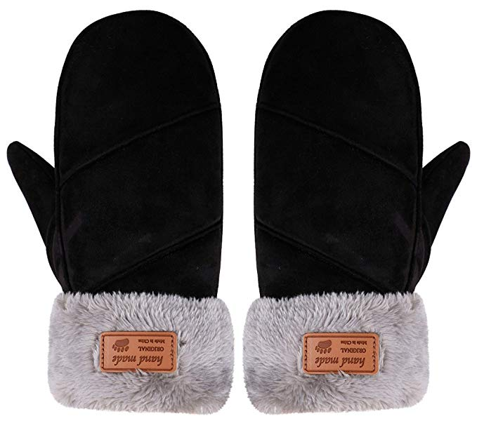 Women's Sherpa Lined Mittens by Arctic Paw $14.99 At Amazon