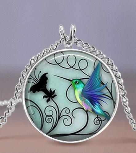Blue Hummingbird Pendant Necklace $1.68 Shipped