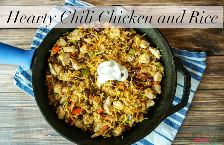Hearty Chicken Chili and Rice- skillet meal ideas
