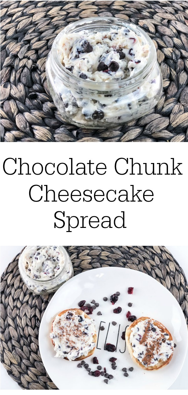 Chocolate Chunk Cheesecake Spread Vertical Pinterest
