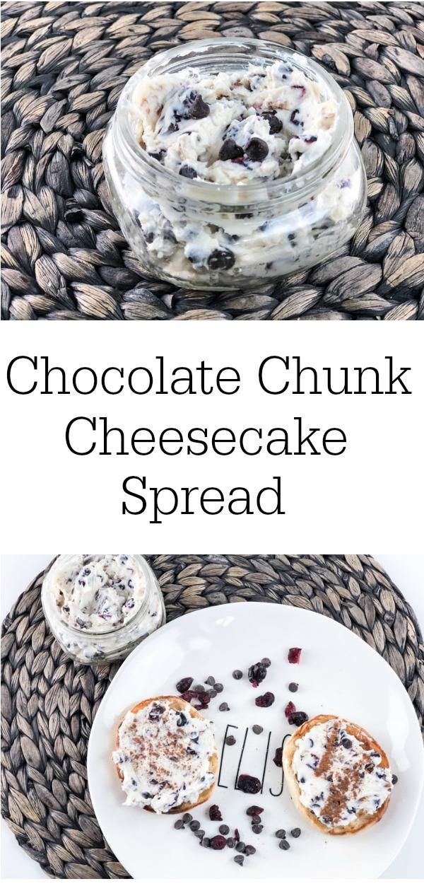 Chocolate Chunk Cheesecake Spread Vertical Pinterest