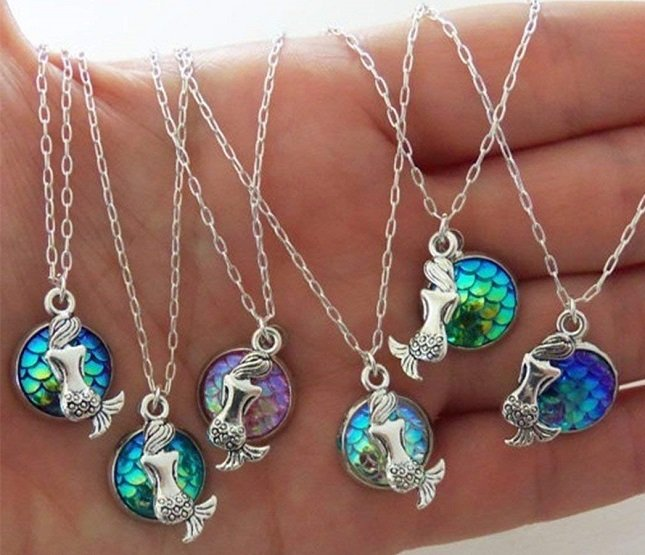 Mermaid Pendant Necklaces $1.59 At Amazon