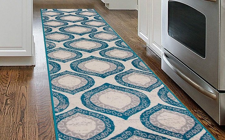 Morroccan Pattern Runner Rug (7′ x 2′) $16.88 At Amazon
