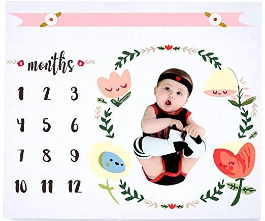 Baby Monthly Milestone Blanket by Hombae $7.49 W/Code on Amazon