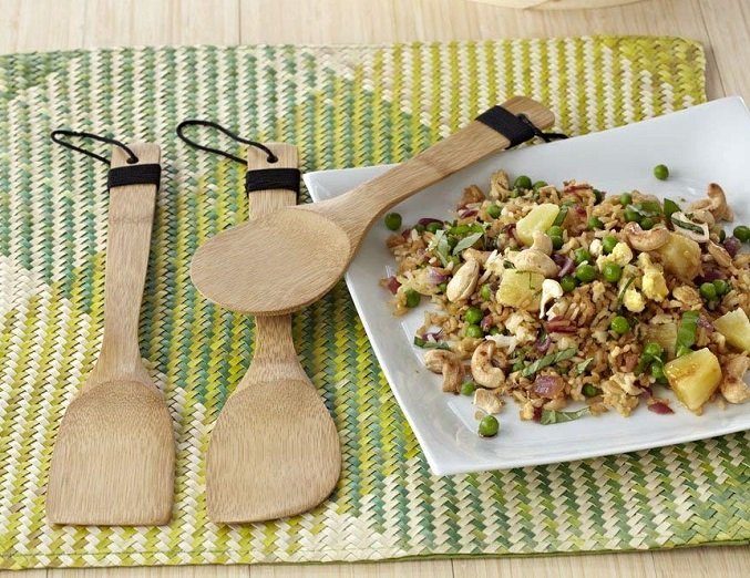 Bamboo Cookware Spoon Set (3-Piece) $3.77 At Amazon