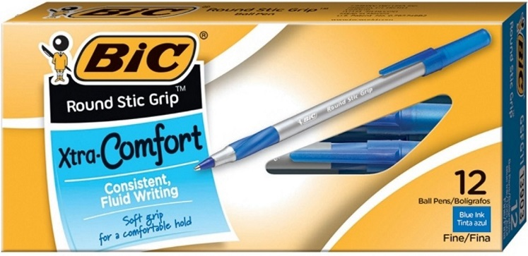 BIC Blue Ballpoint Pens 12-Pack Only $1.30 Shipped + More