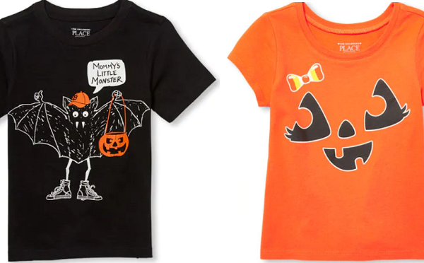 childrens place halloween tees