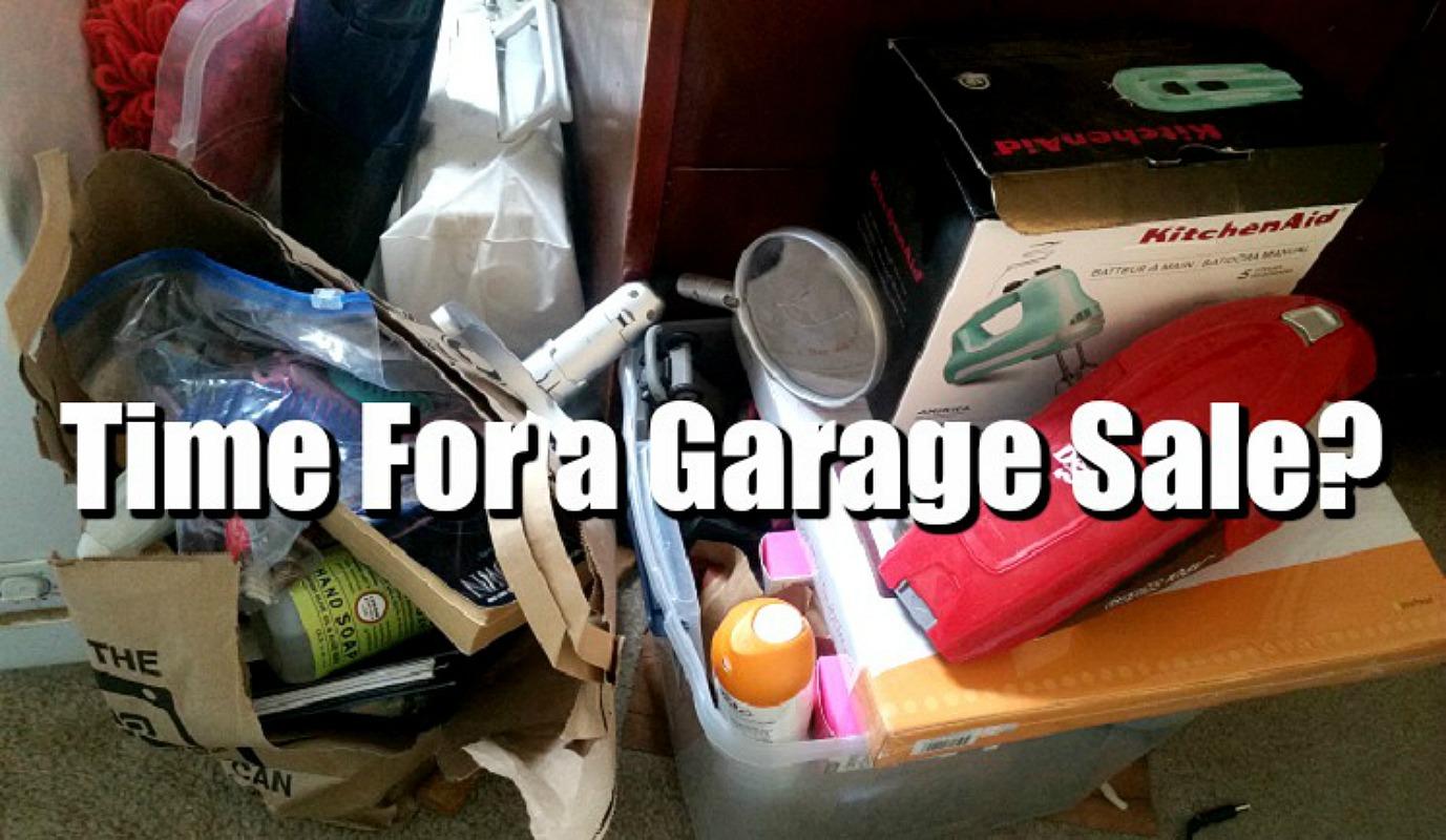 garage sale items at dollar tree