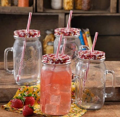 Mason Jar Cups (4Pk) by The Pioneer Woman only $12.88 at Walmart