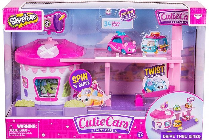 Shopkins Cutie Cars Drive Thru Diner Playset $15 At Amazon