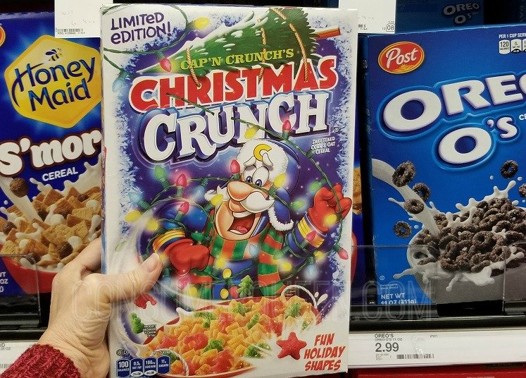 Christmas Crunch Cereal.Target Grocery Run Cap N Crunch Duncan Hines P3 More