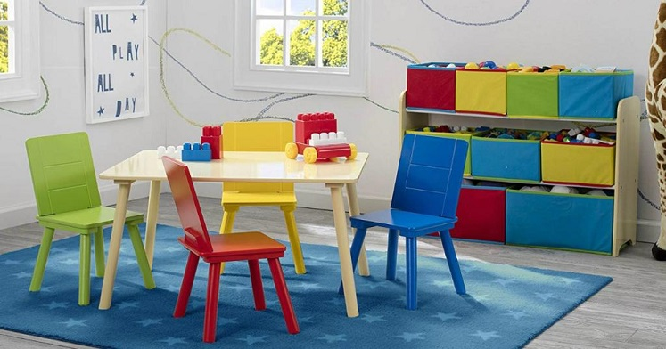 Delta Deluxe Multi-Bin Toy Organizer AND Kids Table & Chair Set $45 Shipped (Reg. $110)