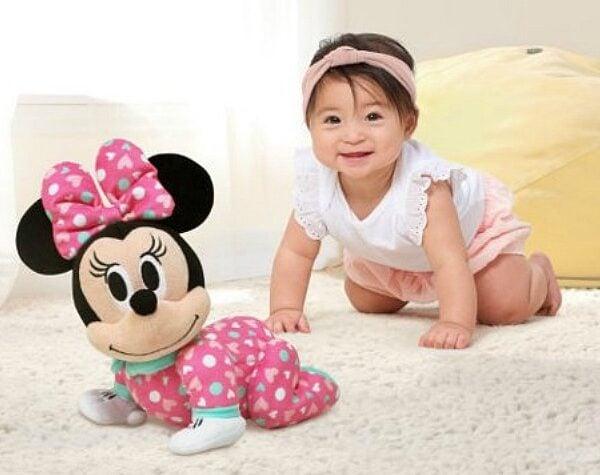 minnie mouse plush crawling