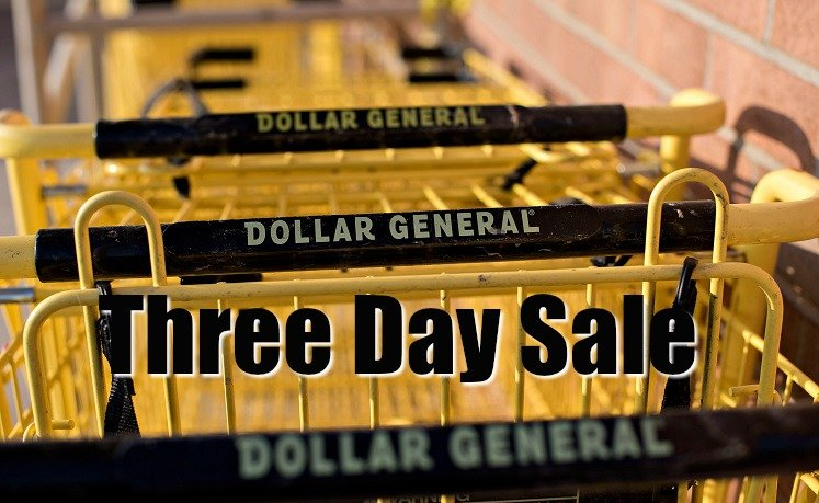 Dollar General Three Day Sale Starts Today!