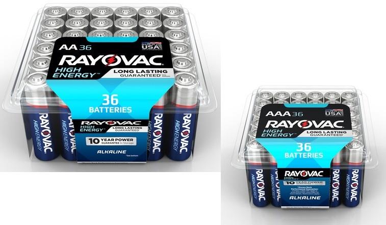 Lowe's: Rayovac Batteries 60-ct. AA or AAA Only $10.99 (Reg. $21.97)