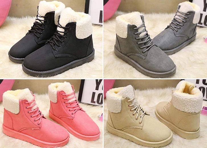 Winter Casual Fleece Boots for Women $18.99 (Reg. $47) on Amazon