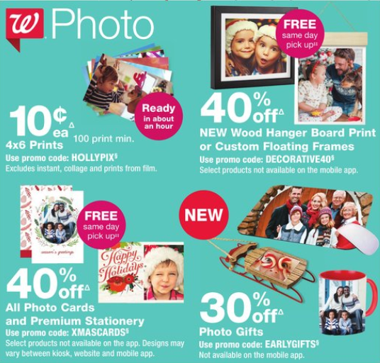 Walgreens Photo Deals: 60% off All Photo Cards & More!