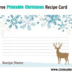 Free Printable Christmas Food Recipe Cards