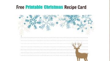 Free Printable Christmas Food Recipe Cards