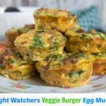 Weight Watchers Veggie Burger Egg Muffins