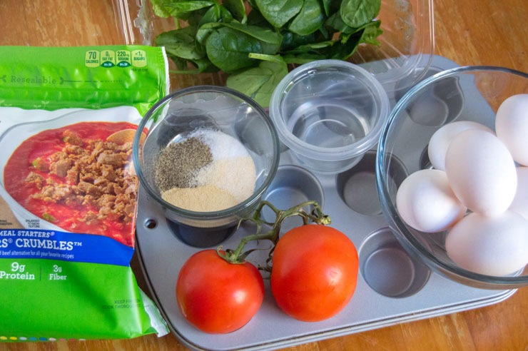 Weight Watchers Veggie Burger Egg Muffins Ingredients