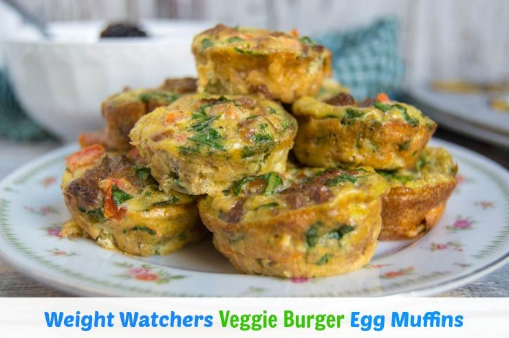 Weight Watchers Veggie Burger Egg Muffins