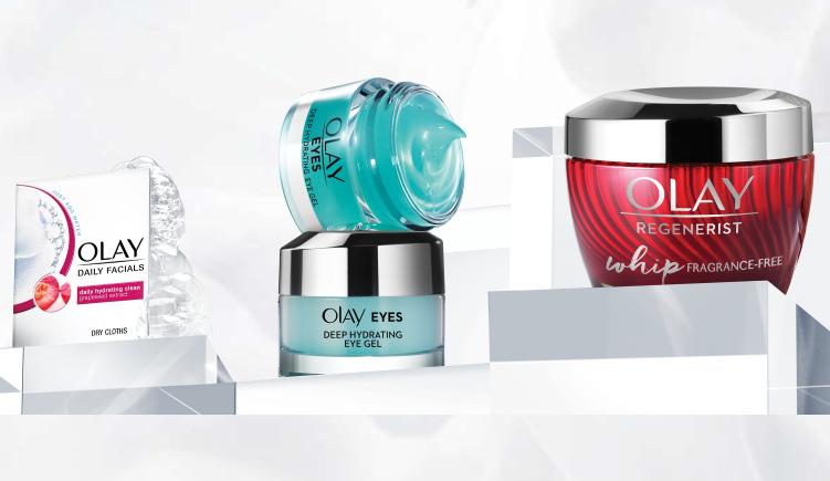Olay Sample Pack: Olay Whips, Eye Gel & Facial Cleaning Cloths