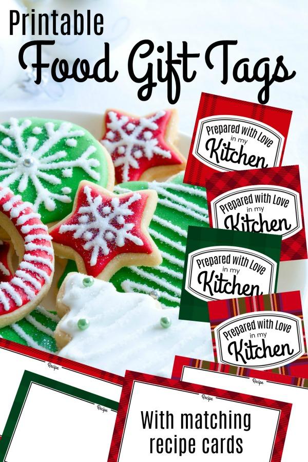 Free Printable Christmas Food Gift Tags