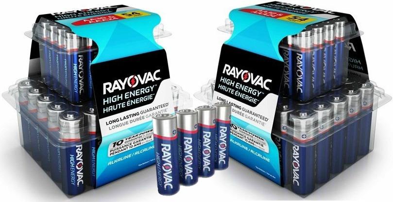 Rayovac Batteries – AA & AAA 54-ct. Combo Pack $9.88 at Walmart