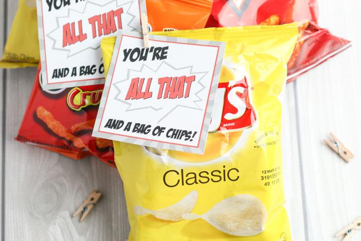 Free Bag of Chips Valentine Printable
