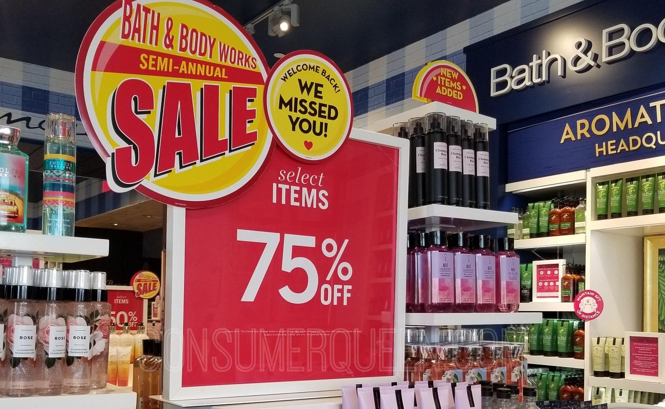 Bath & Body Works Semi-Annual Sale on body care