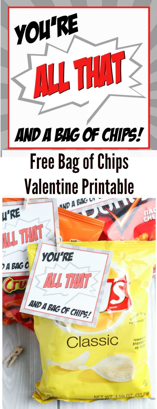Free Bag of Chips Valentine Printable