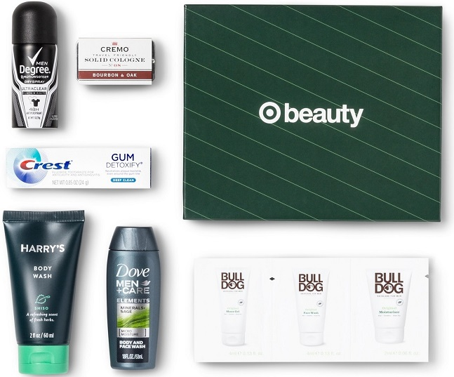 Target Holiday Sample Box for Men Only $5 Shipped
