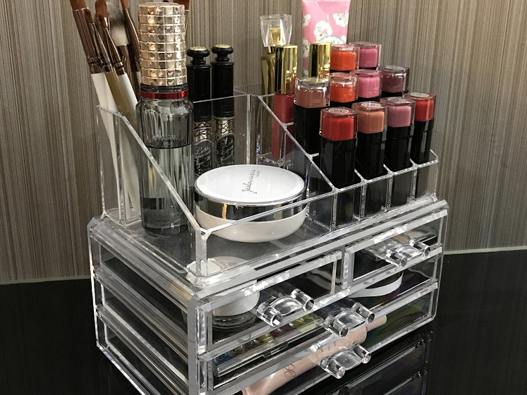 Ikee Acrylic Cosmetic Organizer, Multiple Color Options $14.74 + Free Shipping!