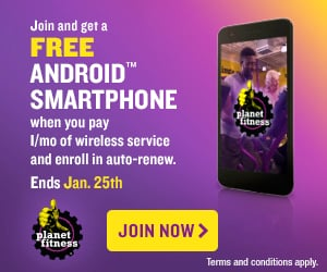 Planet Fitness Free Android Smartphone Offer