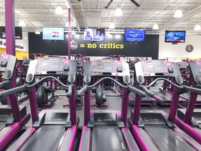 Planet Fitness Gym Treadmill