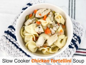 Slow Cooker Chicken Tortellini Soup Pinterest