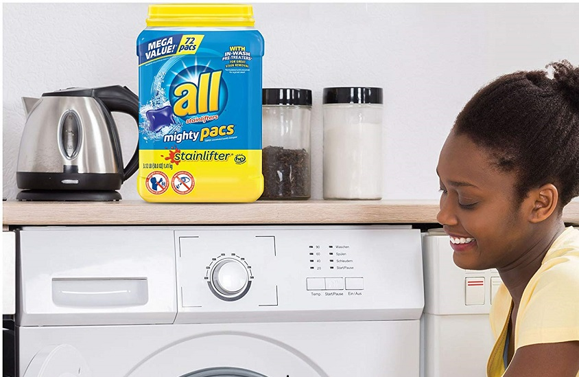All Mighty Pacs Stainlifter Detergent – TWO 72-ct Tubs Only $13.05