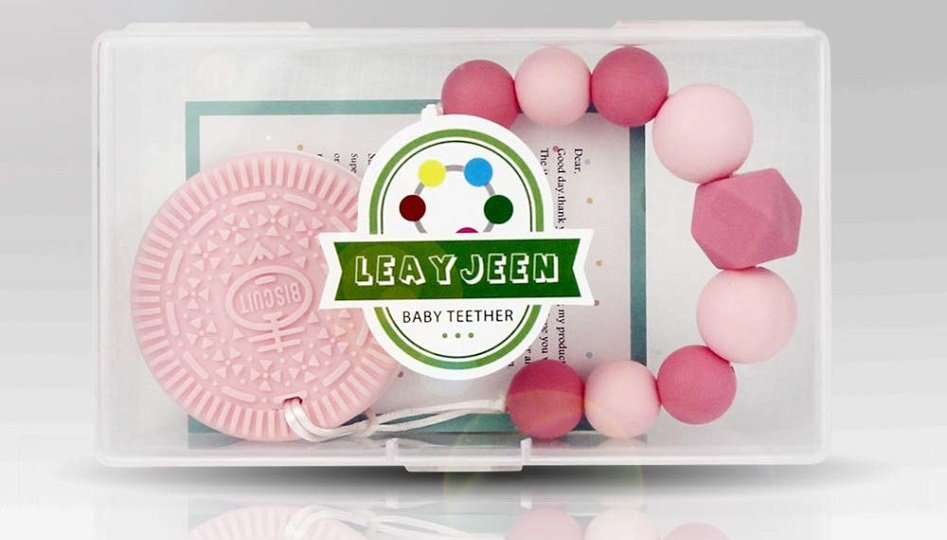 Baby Teething Toy with Beaded Clip Holder $11.00 and Free Shipping!