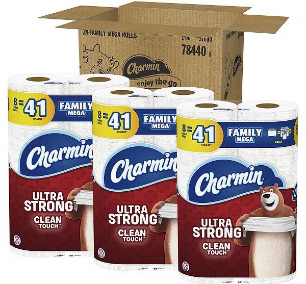 Charmin Ultra Strong 24 Family Mega Rolls (123 Reg. Rolls) Only $26.92 Shipped