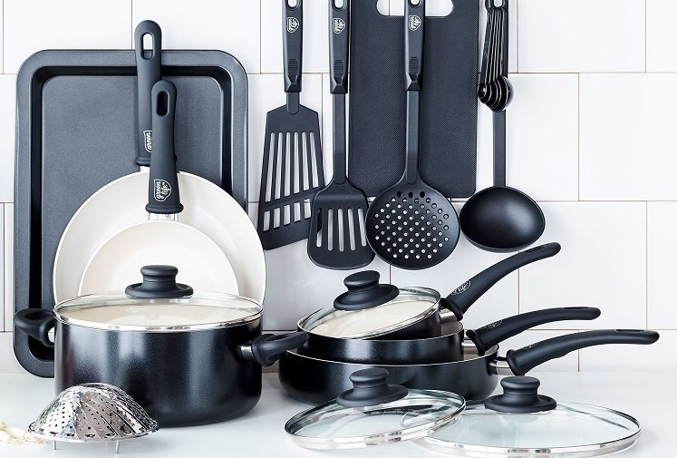 Ceramic Non-stick Cookware Set (18 Pc.) by GreenLife Only $39.97 at Walmart