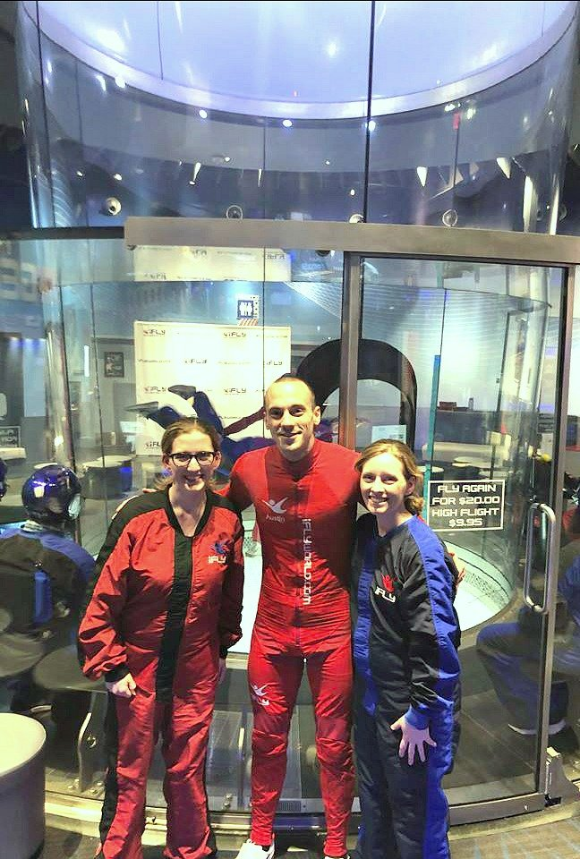 Indoor skydiving consumer queen group pic