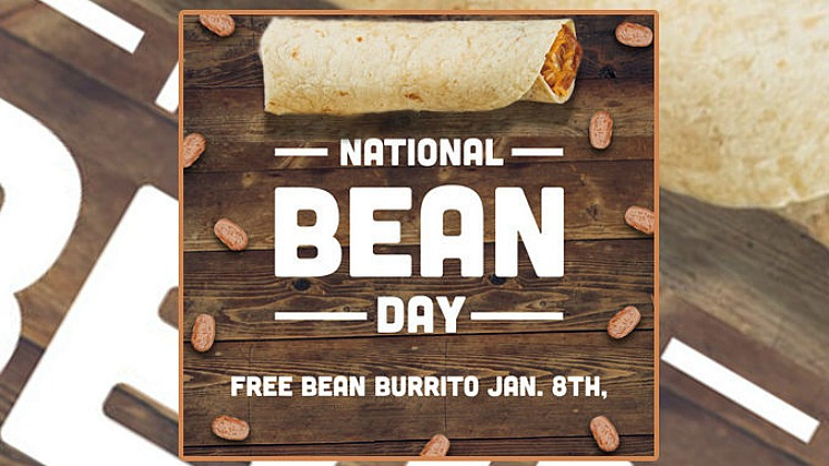 National Bean Day – FREE Burrito With ANY Purchase at Taco Bueno