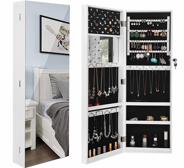 SONGMICS Jewelry Armoire with Mirror, $87.99 Shipped!