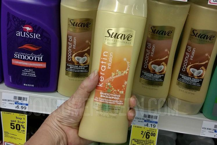 Suave Professionals Gold Shampoo + More  Only 50¢ at CVS After Rewards