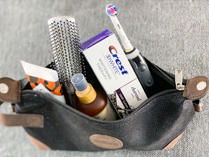 Crest Charcoal Toothpaste Travel Bag