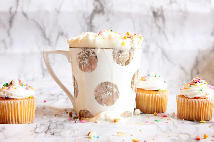 Easy Vanilla Cupcake in a mug with cupcakes
