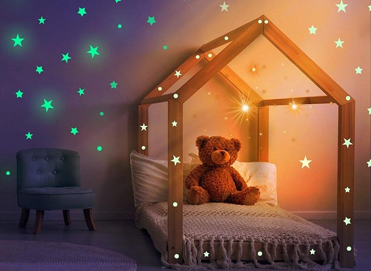 Glow in The Dark Stars Kit for Ceiling or Walls $13.97 – 53% Savings!