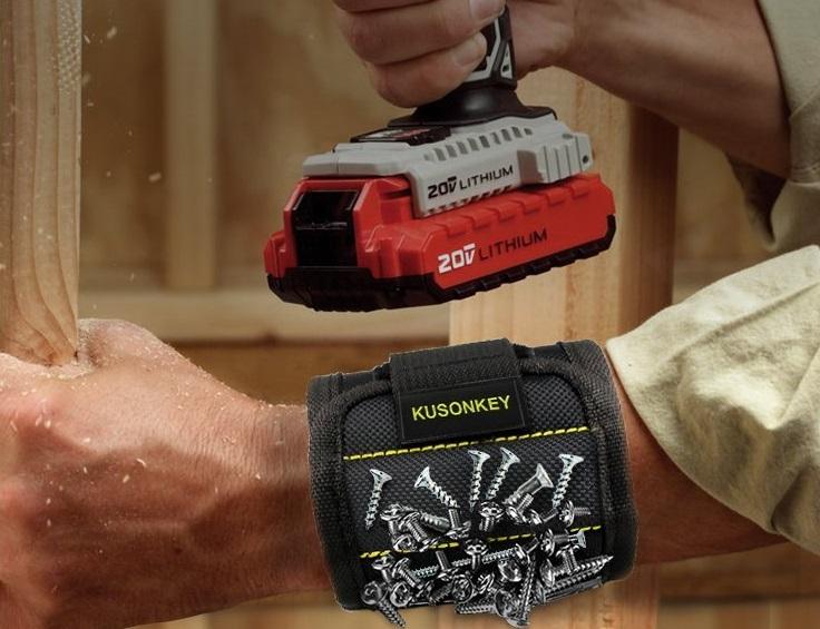 Handyman Magnetic Wristband by Kusonkey $12.99 on Amazon!