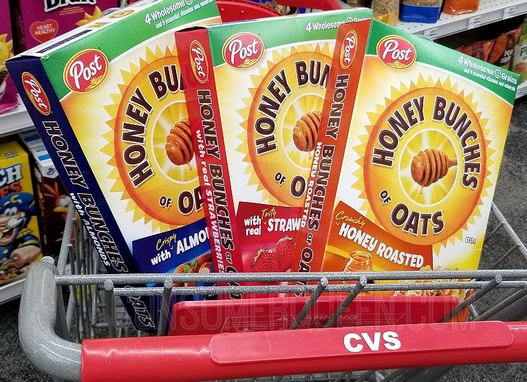 Post Honey Bunches of Oats as Low as $1.19 at CVS After Cash Back